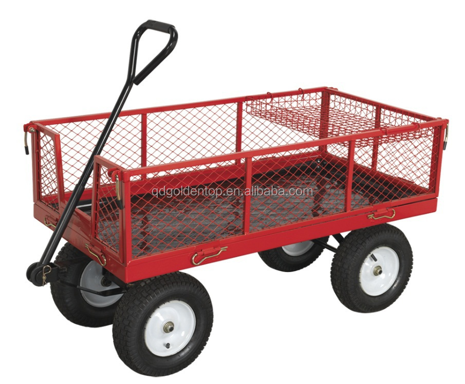 Mesh Deck Garden Wagon Garden Cart Tool Cart With Fold Down Sides   Buy  Mesh Cart,Garden Cart,Tool Cart Product On Alibaba.com