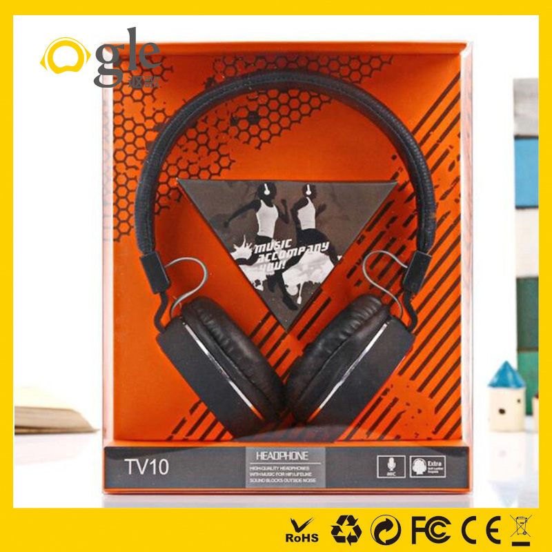 China cheapest oem headphone foldable mobile headphone price with logo