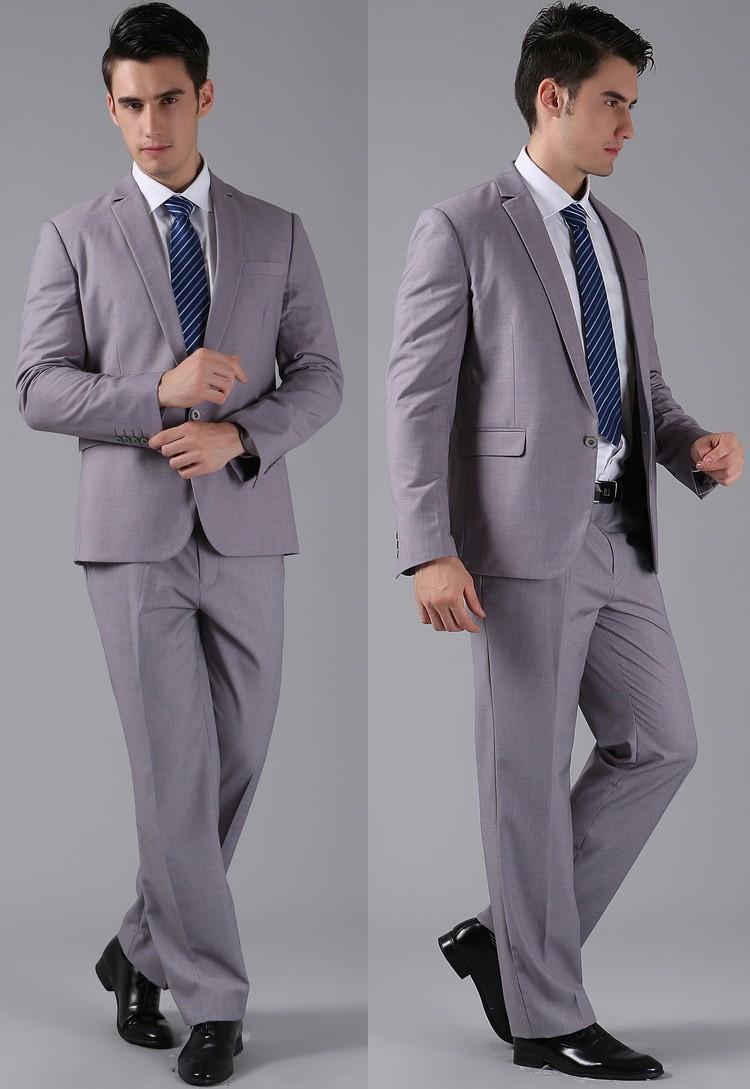 (Kurtki + Spodnie) 2016 Nowych Mężczyzna Garnitury Slim Fit Niestandardowe Garnitury Smokingi Marka Moda Bridegroon Biznes Suknia Ślubna Blazer H0285 55