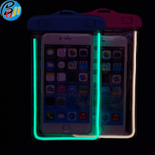 2017 Popular Universal Waterproof Phone Dry Bag for Glowing at Night