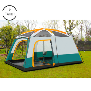 Family camping equipment 8 To 10 Men Large Family Camping Tent Waterproof 3 Rooms Tent