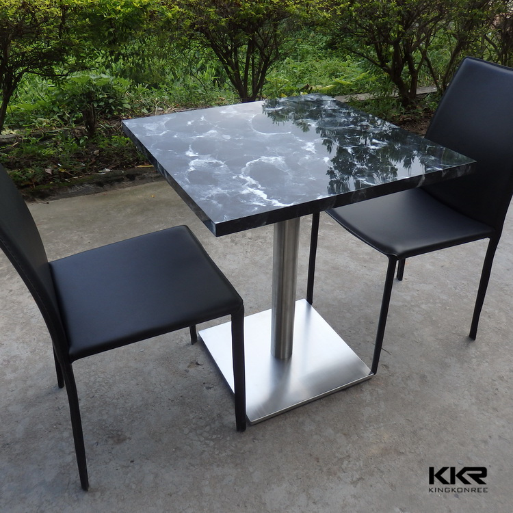 blanc ronde 4 personnes surface solide table pas cher restaurant table et cha. Black Bedroom Furniture Sets. Home Design Ideas