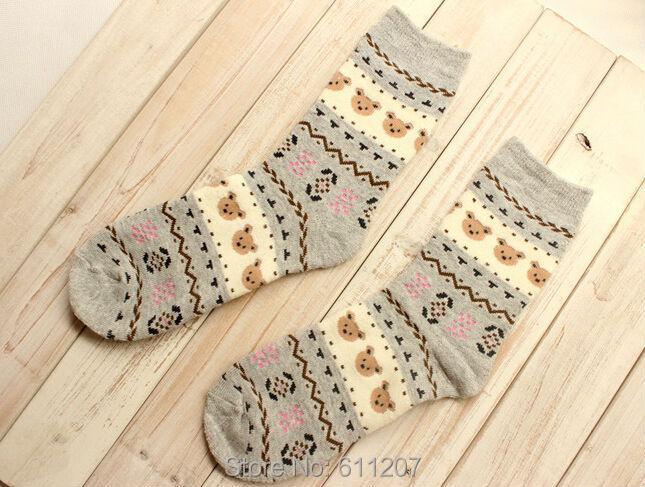 1 много = 5 пар = 10 шт. 50 G / PCS женщины в хлопок носки, Народном стиле деревенский носки, Полотенце носки женское носки, 5 цветов