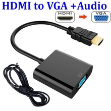 HDMI zu VGA Adapter Stecker Auf Famale Konverter Adapter 1080P Digital zu Analog Video Audio Für PC Laptop Tablet