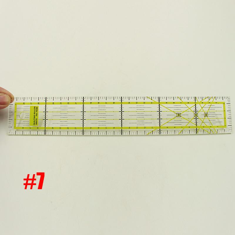 Прозрачный стеганый швейный инструмент для лоскутного шитья, полный стиль, стеганая сетка для резки, индивидуальные весы, швейное правило, ...(Китай)