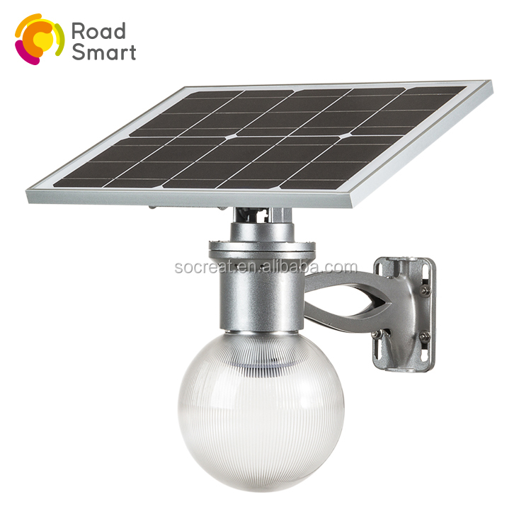 China Supplier Solar Led Outdoor Wall Lighting Garden Ball Light Mounted
