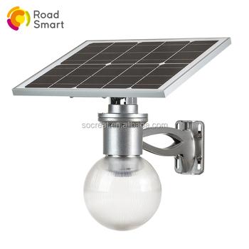 China Supplier Solar Led Outdoor Wall Lighting Garden Ball Light Mounted