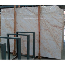 Big project used golden spider white wall marble with gold vein