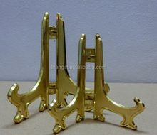 gold color plastic folding plate easel& plate stand