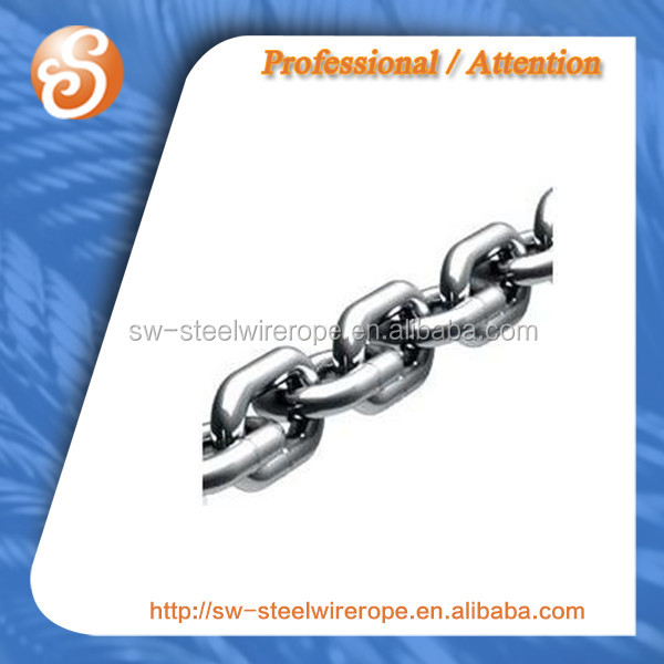 G80 steel Chain galvanized-13mm zinc coated white surface-block chain G50 G70