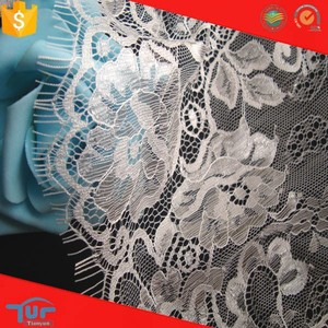 Good quality flat cheap white rashcle bridal lace trim factory in china