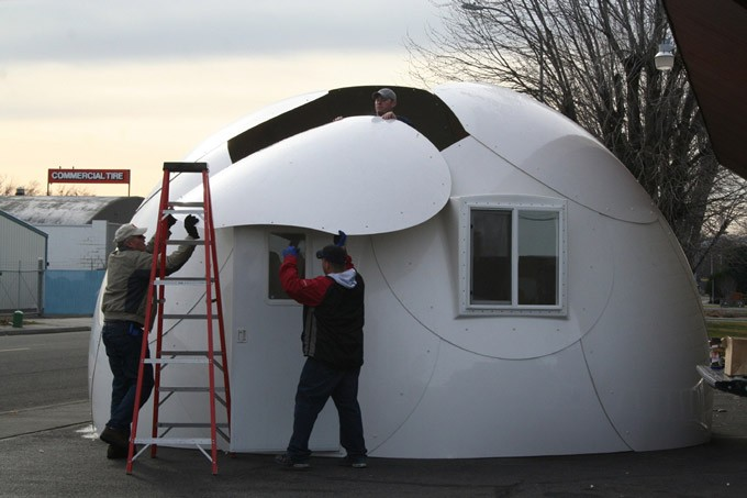 6M diameter prefabricated FRP dome house, View dome house ...
