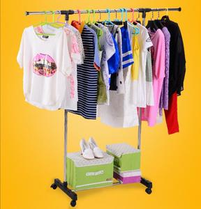wholesale Stainless Steel single pole landing Telescopic shoes tower hangaway korea clothes stand rack