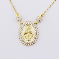 Brazilian Gold Jewelry Wholesale Virgin Necklace Pendant