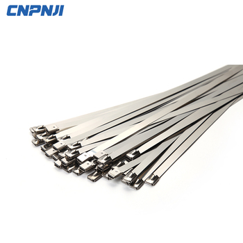 Professional Self Locking Stainless Steel Identification Cable Ties