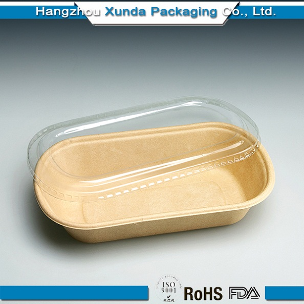 Custom Printed Paper Food Tray/ Keep Food Warm Tray with Cover