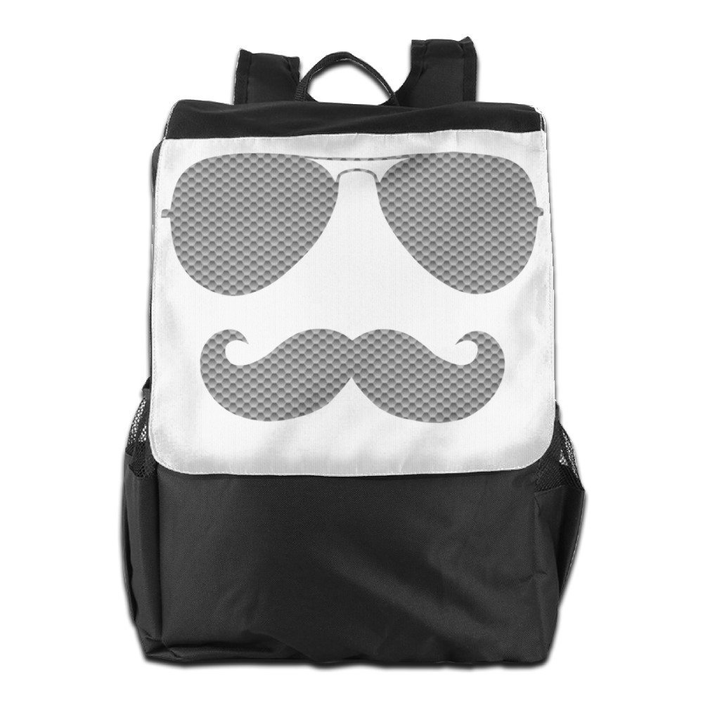 Get Quotations · COOL MUSTACHE SUNGLASSES Men Prevailing Durable School  Rucksack Travel BackPack 236ff0b397902
