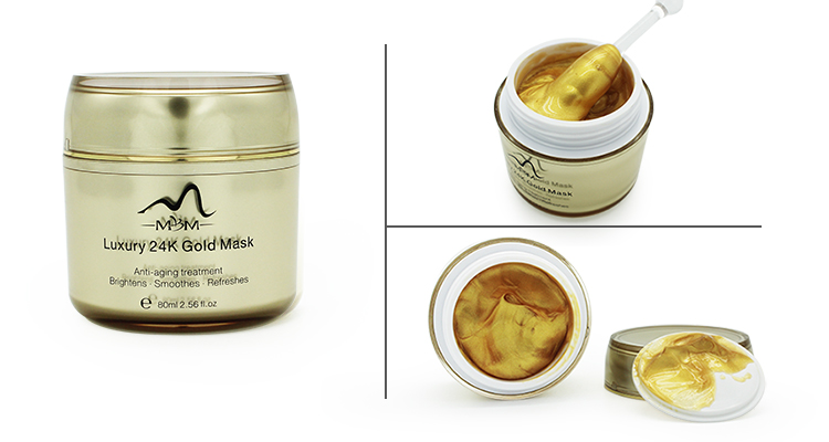 100% Pure Collagen 24k Gold Collagen Crystal Face Mask