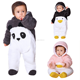 Wholesale infants and toddlers knitted Baby Clothes Long Sleeve Christmas Outfit Baby Winter Cute Romper thickened