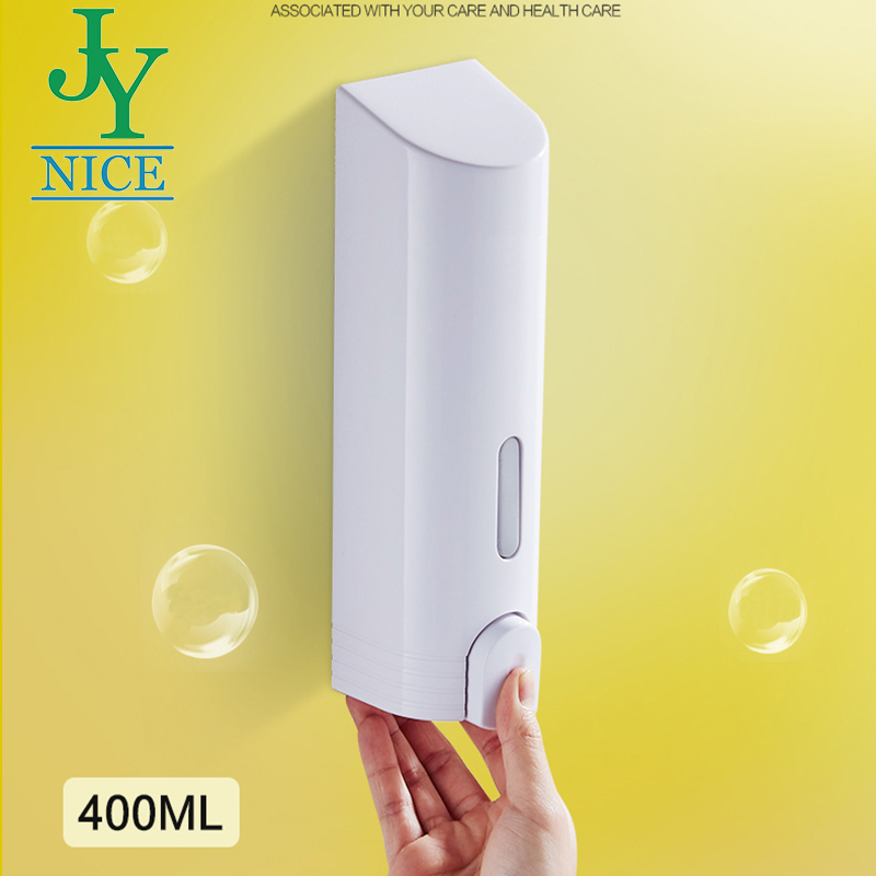 Clean lockable liquid soap dispenser high quality stainless steel plastic wall mounted hanging hand lotion dispenser