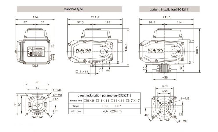 SS304 SS316 SS316L Stainless Steel 4-20mA Listrik Butt Dilas Ball Valve