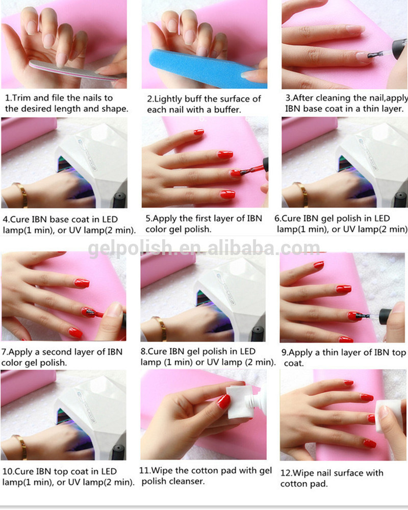 Glow In The Dark Permanent Nail Art Designs Uv Gel Nail Polish - Buy ...