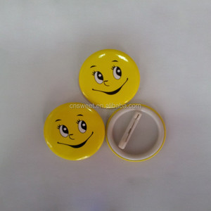 print safety pin backside round button tin badge
