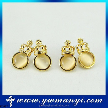 Hot Sparkling Crystal Whole Vintage Newborn Baby Earrings With Newest Design