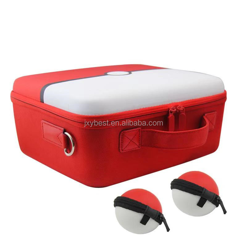 PokeBall Plus Type Deluxe Travel Carrying Case storage bag for Nintendo Switch Console and switch pro controller and Accessories