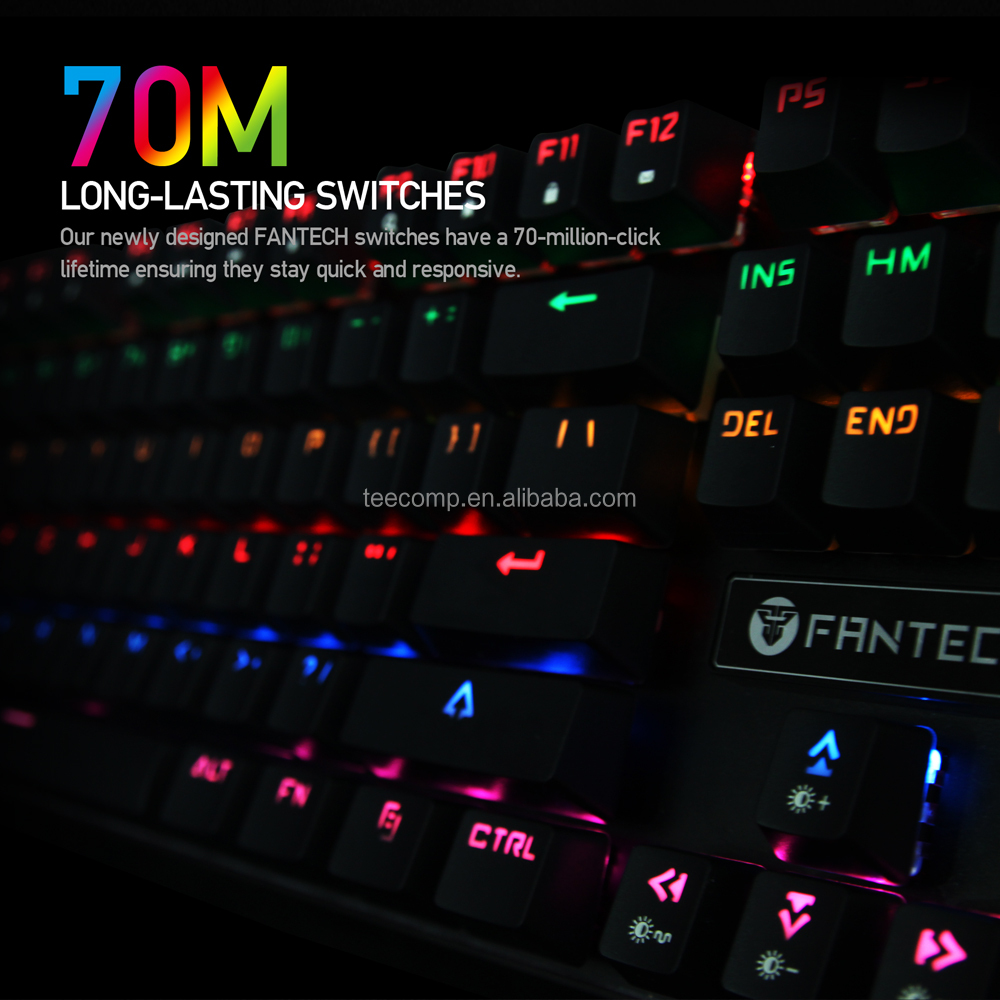 a3b23ab6c56 Fantech MK871RGB Backlit Anti Ghost Full Keys ANVOGO 5050 Mechanical  Keyboard Amazon Top Seller 2017