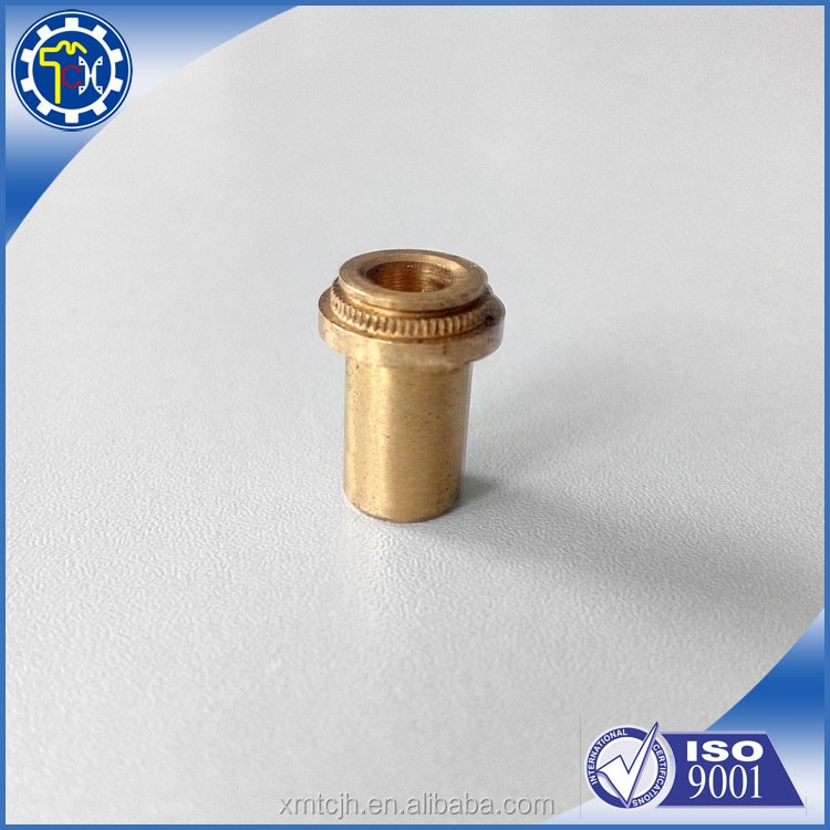 Hot sale brass pin with through hole and knurl for machine