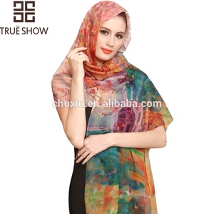 CHUXIU custom bulk wholesale girl women plain maxi stretchy suede hijab cashmere shawl