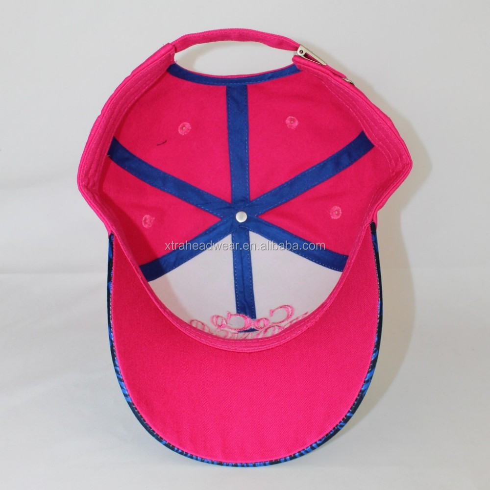 Sublimation Cap Printing Fabric 3d Embroidery Cap And Hat Hot Pink ... f566b86e004f