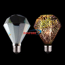 Bunte Fancy Design Diamant Form 3D Feuerwerk Led-lampe Licht