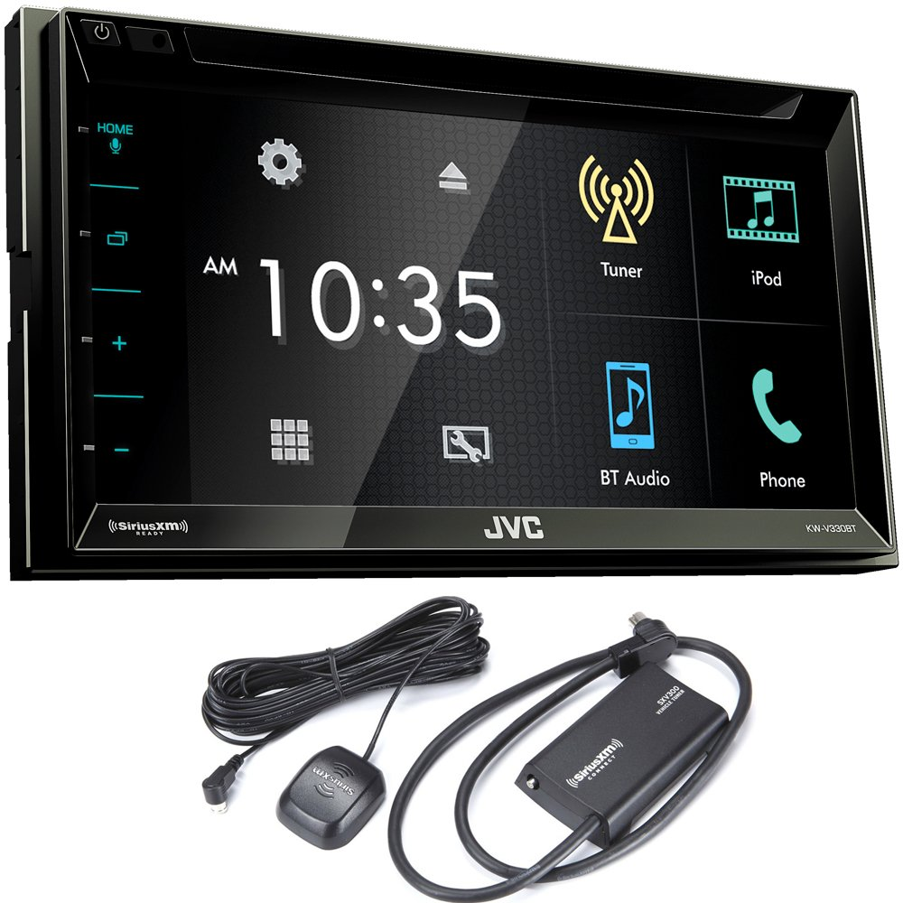 "JVC KW-V330BT 6.8"" Double DIN Bluetooth In-Dash DVD/CD/AM/FM/Digital Media Car Stereo with SiriusXM Tuner"