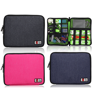 Travel Accessory Storage Waterproof Nylon Power Bank Digital Accessories Cable Organizer Bag
