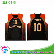 2017 Summer Best Selling Customized Sublimated Printing Violet Basketball Jersey Designs