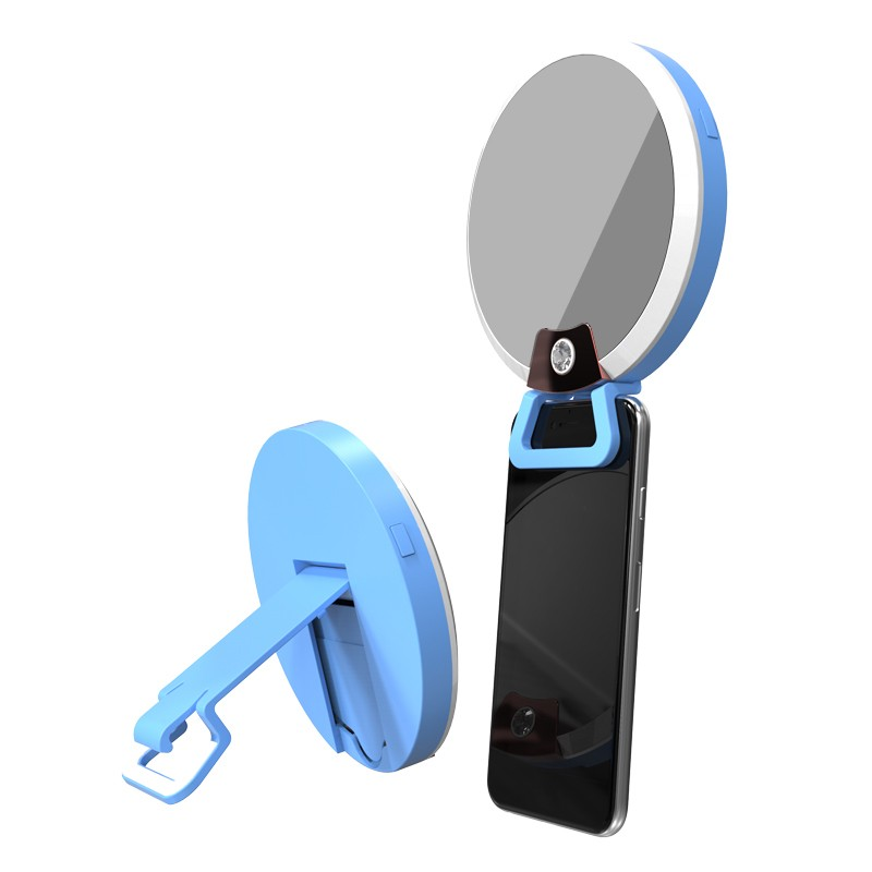 clip on led mini potable phone selfie ring light USB charging for cell phone