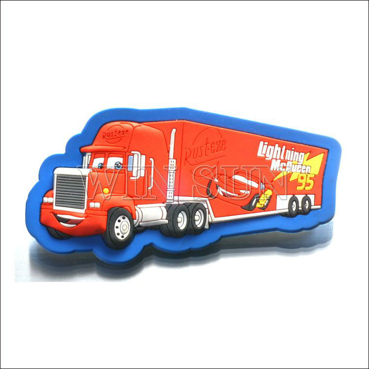 truck shape silicone rubber fridge magnet