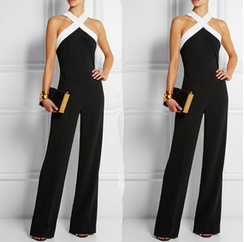 X85256a Off Shoulder Backless Ladies Sexy Formal Rompers Jumpsuits