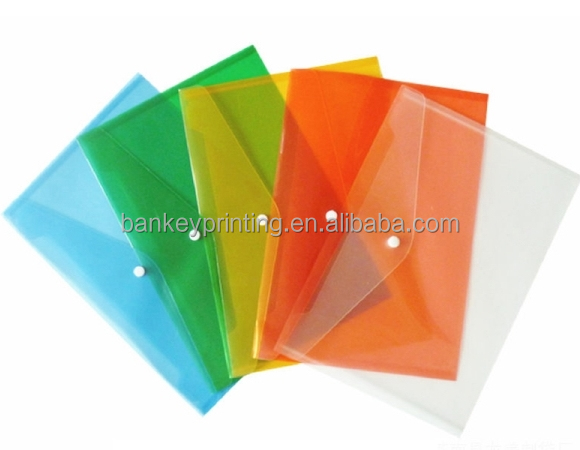 A4 Size Clear PP Plastic Bestand Envelop