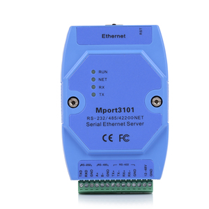 1 port RS232/RS485/RS422 serial to ethernet server