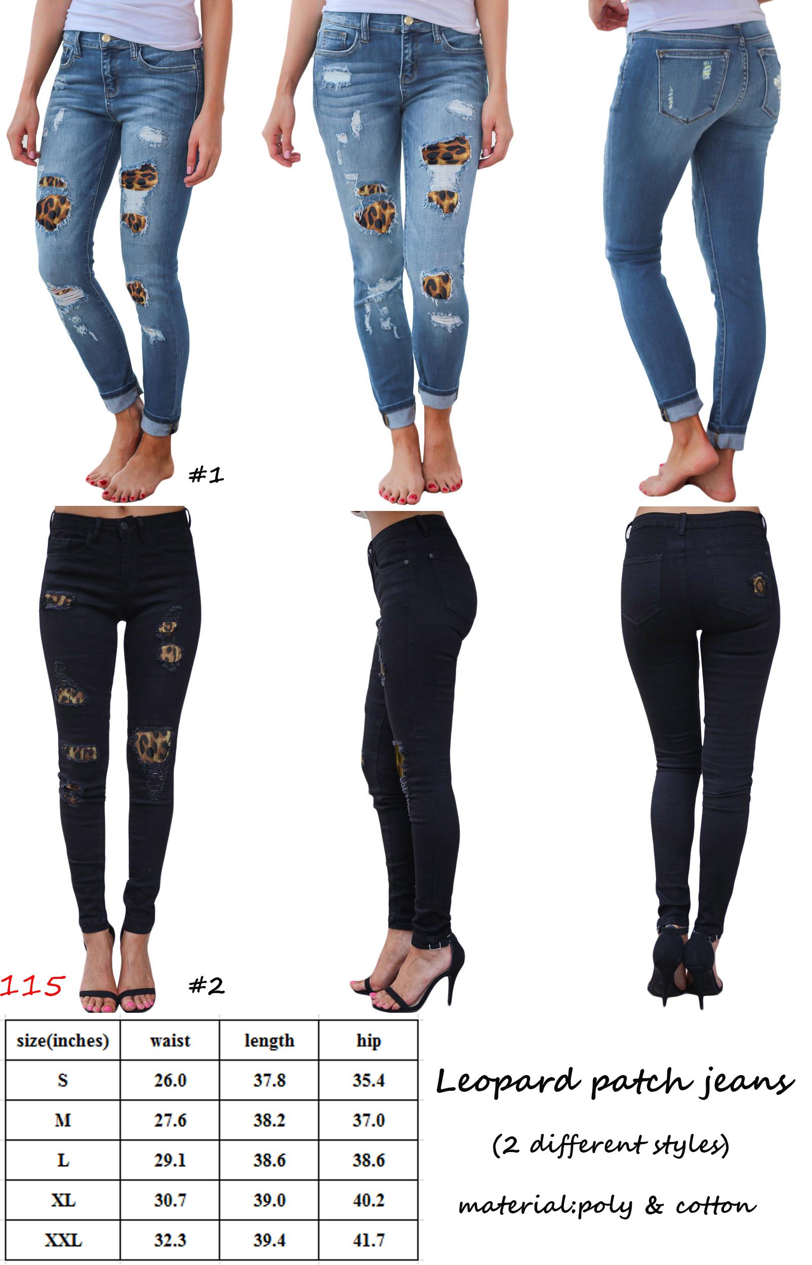 Las Mujeres Pantalones Modernos Vaqueros Skinny Sexy Leopardo Imprimir Agujero Parche Lapiz De Cintura Alta Pantalones De Mezclilla Buy Pantalones De Mezclilla Pantalones De Mezclilla Lapiz Pantalones Con Estampado De Leopardo Product On