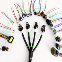 Auto wire harness customization connector wire tail Repair or modification use sensor extension harness