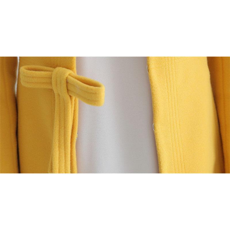 2015 зима новинка америка стиль длинные широкий желто-бежевых синий красный женское пальто шерстяное пальто тип женщины куртка бесплатная доставка