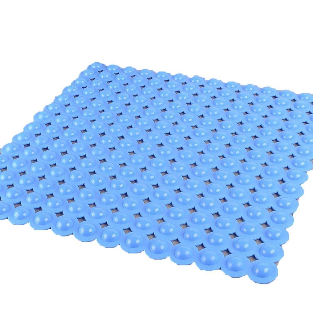 Hjyi Bath Mat 5353cm, Square Bathroom Non-Slip mat, PVC Bathroom Anti-Fall Massage Foot mat