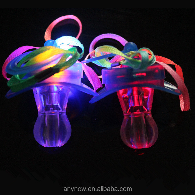 Pacifier Honest Led Flashing Baby Pacifier Toddler Whistle Flash Glow Sticks Party Supplies Toy Pacifier Fun Props