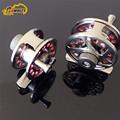 2 pieces Deep Sea Mini Full Metal Aluminum Fly Fish reel fly fishing reel Ultra light