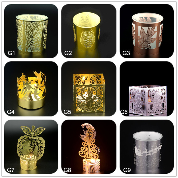 Luxury custom different types of soy wax scented decaled glass massage unique candle jars