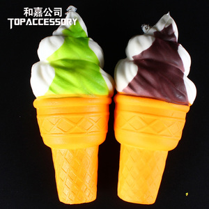 Wholesale Creative Anti Stress License Squishy Ice Cream Cone Lovey PU Squishies